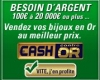 Echanger son or contre du cash